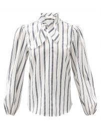 Tie-neck striped blouse at Matches