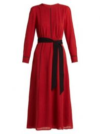 Tie-waist voile midi dress at Matches