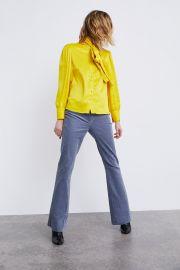 Tied Satin Blouse by Zara at Zara