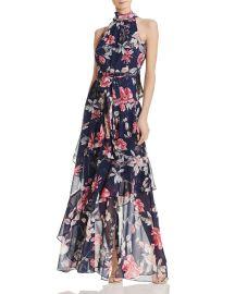 Tiered Floral Gown Eliza J at Bloomingdales