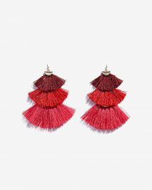 Tiered Tassel Drop Earrings at Express