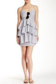 Tiered V-Neck Stripe Dress at Nordstrom Rack