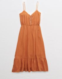 Tiered midi dress at American Eagle