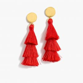 Tiered tassel earrings at J. Crew