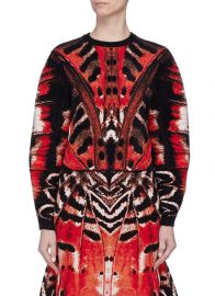 Tiger Butterfly Wing Jacquard Knit Top by Alexander McQueen at Lane crawford