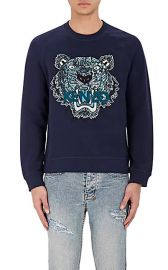 Tiger-Embroidered French Terry Sweatshirt by Kenzo at Barneys Warehouse
