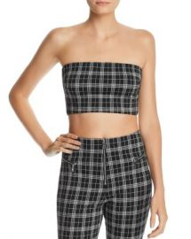 Tiger Mist Luka Plaid Tube Crop Top Women - Bloomingdale s at Bloomingdales