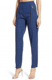 Tiger Mist Plaid High Waist Skinny Pants   Nordstrom at Nordstrom