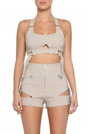 Tiger Mist Reed Cutout Utility Crop Top   Nordstrom at Nordstrom