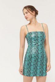 Tiger Mist Viper Snake Print Mini Dress at Urban Outfitters