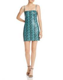 Tiger Mist Viper Snakeskin-Print Faux Leather Mini Dress Women - Bloomingdale s at Bloomingdales