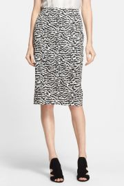 Tiger Pattern Cotton Pique Pencil Skirt at Nordstrom Rack