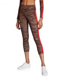 Tiger Stripe High-Rise 7/8 Leggings at Neiman Marcus