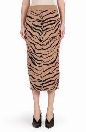 Tiger Stripe Wool Pencil Skirt at Nordstrom