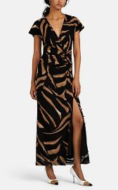 Tiger-Striped Silk Crepe Gown at Barneys