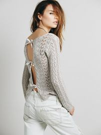 Tight Lace Tie Up Back Pullover at Free People