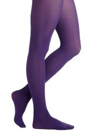 Tights for Every Occasion in Grape at ModCloth