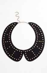 Tildon Studded Collar Necklace in Black at Nordstrom