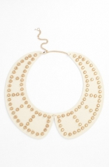 Tildon Studded Collar Necklace in cream at Nordstrom