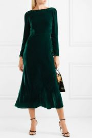 Tina open-back velvet midi dress at Net A Porter