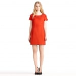 Tina's coral dress by Rachel Roy at Rachelroy