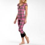 Tina's pink check pajamas from Glee at JC Penney