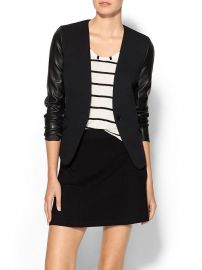 Tinley Road Leather Sleeve Blazer at Piperlime