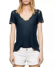 Tino Gold Foil-Trimmed Tee by Zadig  Voltaire at Bloomingdales