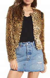 Tinsel Faux Fur Leopard Jacket at Nordstrom