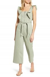 Tinsel Ruffle Strap Belted Jumpsuit   Nordstrom at Nordstrom