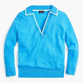 Tipped Polo Sweater by J. Crew at J Crew