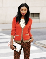 Tipped waffle cardigan at Boden