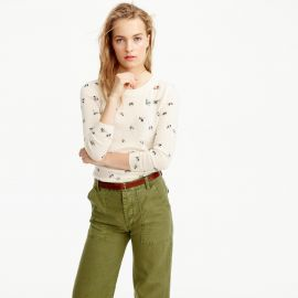 Tippi Sweater in Embellished Bee Print at J. Crew