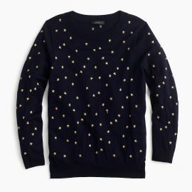 Tippi Sweater in Embroidered Stars at J. Crew