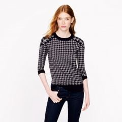 Tippi sweater in houndstooth at J. Crew