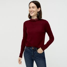 Tippi sweater with lace collar detail at J. Crew