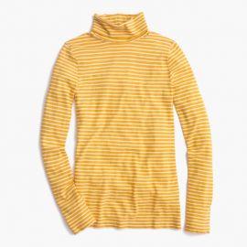 Tissue Turtleneck T-Shirt In Stripe Mustard at J. Crew