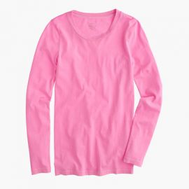 Tissue long-sleeve T-shirt in Pink at J. Crew