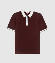 Tobago Tipped Zip Polo by Reiss at Reiss