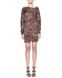 Tom Ford Animal-Print V-Back Blouson Dress at Neiman Marcus