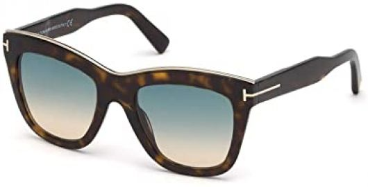 Tom Ford Julie 52MM Square Sunglasses at Amazon