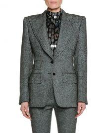 Tom Ford Peak-Lapels Herringbone Stretch-Tweed Jacket at Bergdorf Goodman