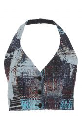 Tome tweed halter bustier top at Moda Operandi