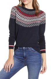 Tommy Hilfiger Fair Isle Crewneck Sweater   Nordstrom at Nordstrom