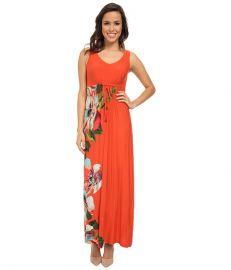 Tommy Bahama Madalena Rose Long Dress Red Hot at 6pm