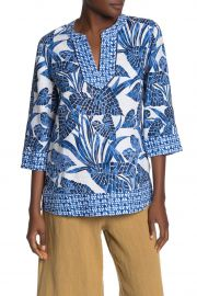 Tommy Bahama Mosaic Palm Linen Tunic at Nordstrom Rack