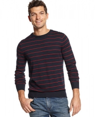 Tommy Hilfiger American Striped Sweater - Sweaters - Men - Macys at Macys