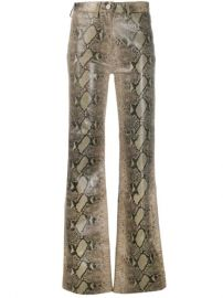 Tommy Hilfiger Flared Snakeskin Print Trousers - Farfetch at Farfetch
