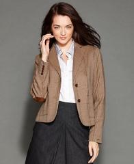 Tommy Hilfiger Jacket Plaid-Print Blazer - Women - Macys at Macys