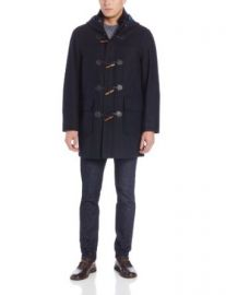 Tommy Hilfiger Menand39s Barry 36 Inch Single Breasted Hooded Toggle Coat at Amazon